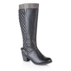Lotus - Black 'Chancellor' knee high boots