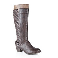 Lotus - Brown 'Chancellor' knee high boots