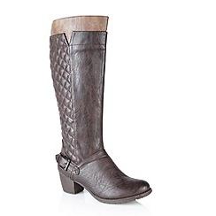 Lotus - Brown 'Chancellor' knee high boots