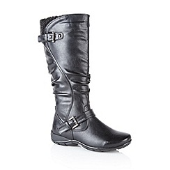 Lotus - Black 'Calista' calf boots