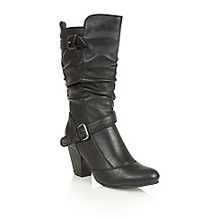 Lotus - Black 'Cassius' calf boots