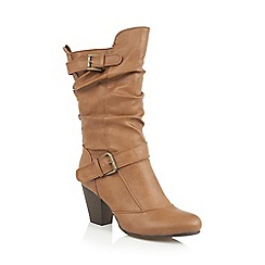 Lotus - Tan 'Cassius' calf boots