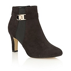 Lotus - Black microfibre 'Catriona' ankle boots