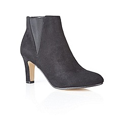 Lotus - Black microfibre 'Bronagh' ankle boots