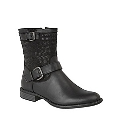 Lotus - Black 'Laurette' calf boots