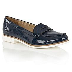 Lotus - Navy shiny 'Marta II' loafers