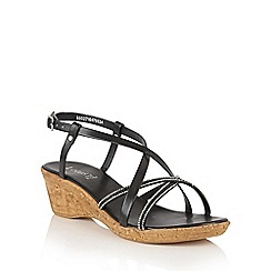 Lotus - Black 'Merida' strappy sandals