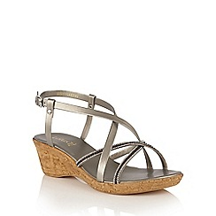 Lotus - Pewter 'Merida' strappy sandals