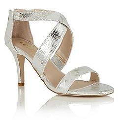 Lotus - Silver reptile print 'Brasc' sandals