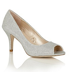 Lotus - Silver 'Maddon' peep toe courts