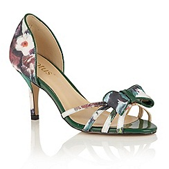 Lotus - Green floral 'Khymer' peep toe courts