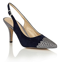 Lotus - Navy 'Shamay' sling back courts