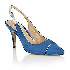 Lotus - Blue 'Elady' pointed toe sling back courts