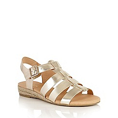 Lotus - Gold Makepeace-UK open toe sandals