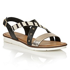 Lotus - Zebra multi leather 'Tigerlily' flat sandals