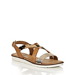 Lotus - Leopard multi leather 'Tigerlily' flat sandals