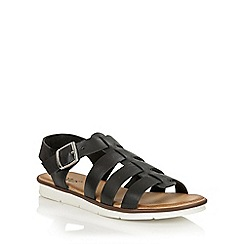 Lotus - Black leather 'Dotterine' open toe sandals