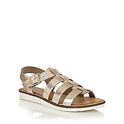 Lotus - Gold leather 'Dotterine' open toe sandals