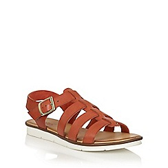 Lotus - Red leather 'Dotterine' open toe sandals