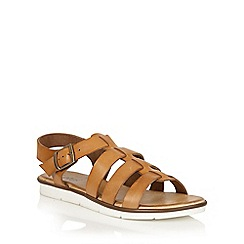 Lotus - Tan leather 'Dotterine' open toe sandals
