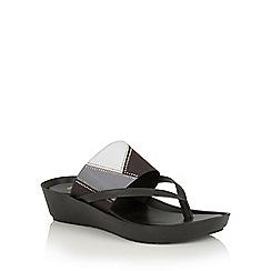 Lotus - Black multi 'Josifa' toe post sandals
