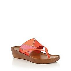 Lotus - Red multi 'Josifa' toe post sandals