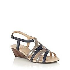 Lotus - Navy Ambra-UK wedge sandals