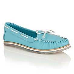 Lotus - Turquoise leather 'Ismay' moccasins