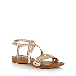Lotus - Rose gold 'Quaser' open toe sandals