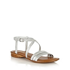 Lotus - Silver 'Quaser' open toe sandals