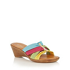 Lotus - Silver Martha-UK wedge mules