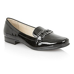 Lotus - Black shiny 'Tiger-UK' loafers