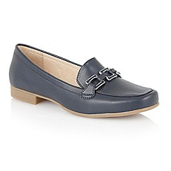 Lotus - Navy matt 'Tiger-UK' loafers
