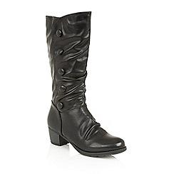 Lotus - Black 'Calathea' calf boots