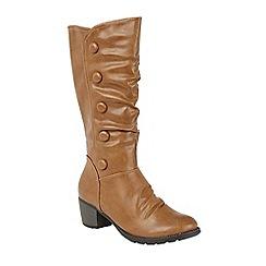 Lotus - Tan 'Calathea' calf boots