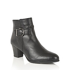 Lotus - Black leather 'Genevieve' ankle boots