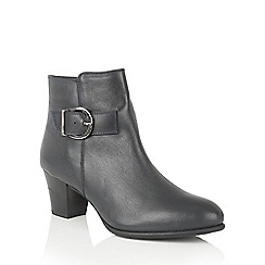 Lotus - Blue leather 'Genevieve' ankle boots