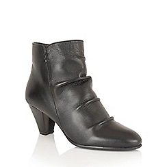 Lotus - Black leather 'Lausanne' ankle boots