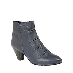 Lotus - Blue leather 'Lausanne' ankle boots