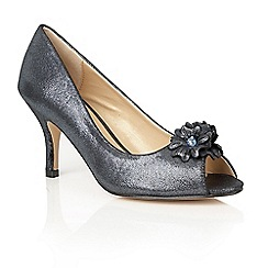 Lotus - Metallics 'Quill' peep toe shoes