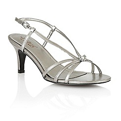 Lotus - Pewter 'Carmelina' open toe shoes