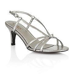 Lotus - Pewter 'Carmelina' open toe shoes