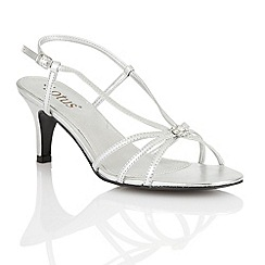 Lotus - Silver 'Carmelina' open toe shoes