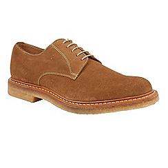 Lotus Since 1759 - Cognac suede 'Alexander' oxford shoes