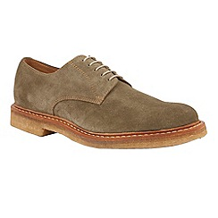 Lotus Since 1759 - Olive suede 'Alexander' oxford shoes