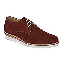 Lotus Since 1759 - Claret suede 'Kensington' lace up shoes