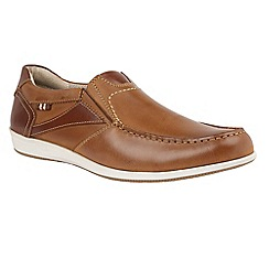 Lotus Since 1759 - Chestnut leather 'Kindon' loafers