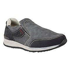Lotus Since 1759 - Navy 'Stevens' slip on trainers