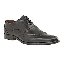 Lotus - Black 'Bishop' lace up brogues