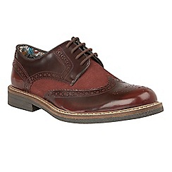 Lotus Since 1759 - Red 'Castell' lace up brogues